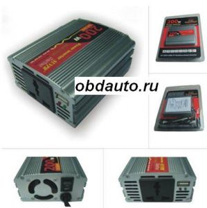 200W USB Car Inverter DC 12V to AC 110V ― OBD AUTO
