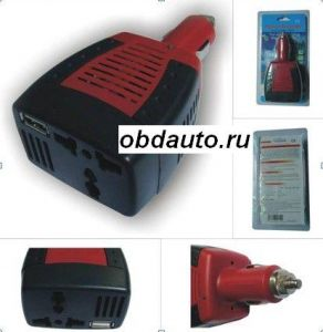NEW Automotive Inverter USB 75W DC 12V to AC 220V Power ― OBD AUTO