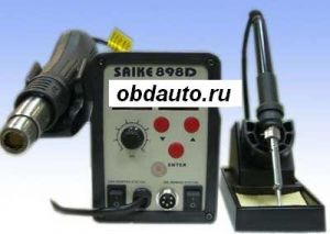 AT8586 Hot Air Gun 2 IN 1 REWORK STATION Soldering IRON ― OBD AUTO