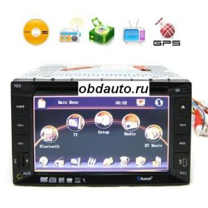 6.2 Inch LCD HD Car DVD Support GPS and TV Function + Free 2GB SD Card ― OBD AUTO