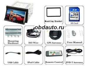High-Def 7 Inch TFT LCD Touchscreen Car DVD Player - DVB-T and GPS Navigator  ― OBD AUTO