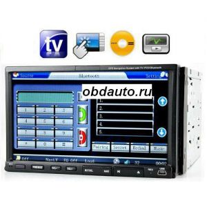 2 DIN 7.0 Inch Touch Screen Car DVD Player - TV - AM / FM  ― OBD AUTO