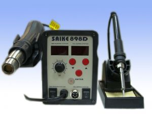 SAIKE 898D Hot Air Gun 2 IN 1 REWORK STATION SMD IRON ― OBD AUTO